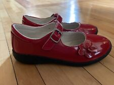 Stride Rite Ava Girls Patent Red Leather Mary Jane Shoes Size 13W