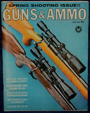 Magazine GUNS & AMMO June, 1962 Converting LUGER to .45, PEPPERBOXES: GATLING...