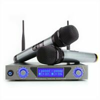 ARCHEER LCD Wireless UHF Karaoke KTV Party Microphone System with 2 Microphones