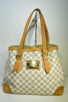 LOUIS VUITTON LV N51206 Hampstead MM Cream Damier Azur Hand Bag Used Ex++