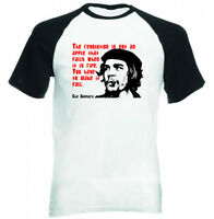 CHE GUEVARA QUOTE CUBA - BLACK SLEEVED BASEBALL TSHIRT S-M-L-XL-XXL