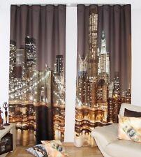 """Gardinen -Set """"New York City"""" modern 3 D Effekt Vorhang Raumteiler 834-2 curtain"""