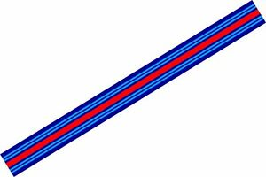Le Mans Martini style Stripe 1 metres long Sticker decal A648EE