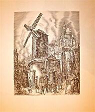 Albert Decaris gravure Evocation de Montmartre Paris 1992  p 467