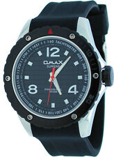 Omax Supreme SS562 Men's Stainless Steel Resin Band Water Resistant Watch
