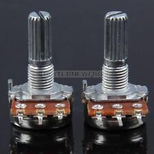 UN3F 2x B500K Guitar Split Shaft Linear Taper Potentiometer Volume Tone Pot