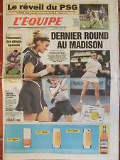 L'Equipe du 16/11/1998 - Marconnet - PSG - Le Masters - Tiozzo - Montpellier