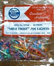 Vintgae 100 Mini Twist Pin Lights Bulbs Assorted Colors Ceramic Christmas Tree