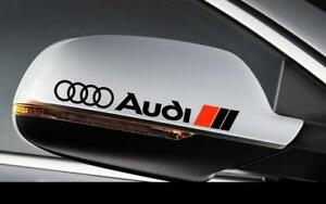 2x Audi Side Mirror Rear View Decals stickers fit all audi models
