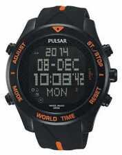 Pulsar Mens Black Rubber Quartz Digital PQ2037X1 Watch - 13 off
