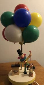 VINTAGE Clown Dog Selling Balloons Nursery Room Lamp Plastic Child Room Children