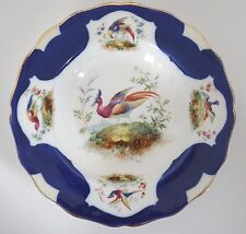 DOULTON Exotic Birds of Paradise Cobalt Blue Soup Plate Bowl Signed by E.PERCY