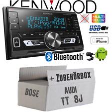 Kenwood Autoradio für Audi TT 8J Bose 2-DIN/Bluetooth/USB/VarioColor Einbauset
