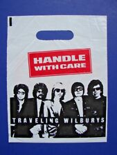 "Traveling Wilburys Promotional Handle With Care 7"" 45 Record Store Bag Beatles"