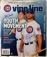 BRETT JACKSON JOSH VITTERS SIGNED Chicago Cubs February 2012 VINE LINE Magazine