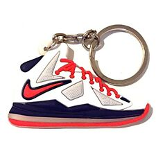 AIR MAX LEBRON JAMES X 10 EXT MIAMI HEAT HOME USA SNEAKERS SHOES KEY CHAIN RING