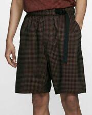 Nike Sportswear Tech Pack Woven Shorts - SMALL - AR1584-060 Orange Grid Check