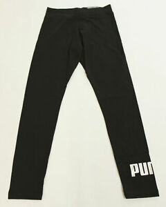 PUMA Women's Essentials Metallic Logo Legging SV3 Black Large NWT