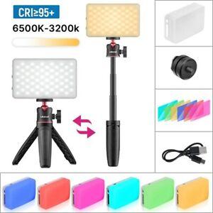 Mini Tripod LED Light Kit Dimmable Fill Light with Color Gel Live Broadcast Kit
