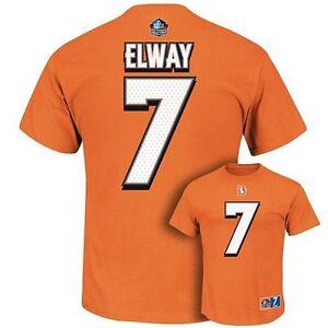 "Majestic JOHN ELWAY Hall of Fame JERSEY/SHIRT ""Eligible Receiver II"" Broncos M"