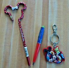 New ListingSet of 3 Disney Walt Disney World Minnie With Bow Pencil Key Chain Pen