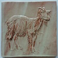 Goat tile handmade, low relief,  by Helen Baron