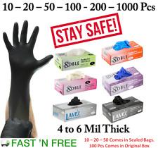 Gloves Nitrile Vinyl - Black Blue10 -20-50 -100 Pcs (Powder Free - Latex Free)