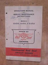 Continental Red Seal Aircraft Engines Operations & Service Maintenance book
