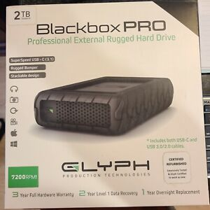GLYPH Blackbox Pro 2TB refurbished 7200rpm usb-c rugged