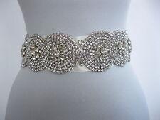 Rhinestone Applique Wedding Sash Ivory Bridal Sash Belt Dress Accessories