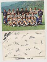 CALCIO - JUVENTUS F.C. TORINO - CAMPIONATO 974/75 - SCIREA ZOFF BETTEGA ALTAFINI