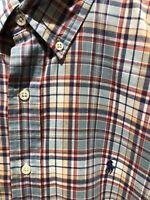Ralph Lauren Blake XL Extra Large Plaid Polo Button Down Long Sleeve Shirt Men
