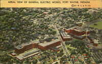 General Electric Works Fort Wayne Indiana IN aerial view RAILROAD PA 1977