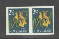 New Zealand SG 848b 21/2c Kowhai Imperf Pair Superb UMM MNH
