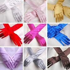 Beauty Women's Lady Scalable Long Gloves Satin Wedding Formal Evening Party O68