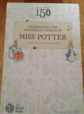 2016 Beatrix Potter 50p Cinquanta Pence Collectors ALBUM, PETER Coniglio Jemima Tiggy