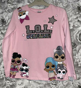 Girls Age 9-10 Years - Long Sleeved Top - LOL Dolls