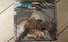 Fleur-de-lis Bling Rhinestone Iron-on Appliqué Fashion Fusion