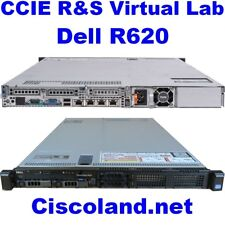 Cisco CCIE R&S Virtual Lab INE Dell R620 ESXi 6.5 128GB RAM - 1TB SSD GNS3 VIRL