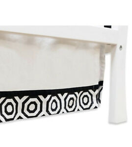 Jonathan Adler Crafted by Fisher-Price Nixon Crib Skirt - Black/White