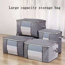3PCS Underbed Clothes Storage Bags Boxes Ziped Organizer Wardrobe Cube Closet