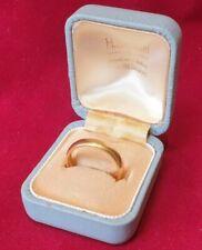 Vintage 22 Carat Gold Heavy Wedding Ring Band 6 Grams Hallmarked Size O   6+g
