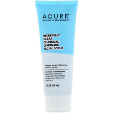Acure Incredibly Clear Charcoal Lemonade Facial Scrub 4 Oz VEGAN FREE SHIPPING