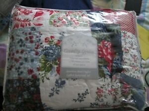 3Piece Quilted Bedspread double Bed Throw Bed sheet And 2 Pillow cases shams