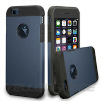 Heavy Duty Hybrid Slim Case Armor Cover REAL Glass Film for iPhone 6+ 6S+ Plus