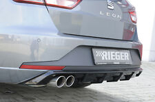 Rieger Heckansatz schwarz glänzend Doppelendrohr links für Seat Leon 5F ST FR