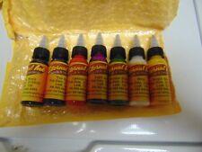 7 BOTTLE SET OF AMAREU TATTOO INK IN ONE OUNCE BOTTLES