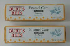 Burts Bees Enamel Care Fluoride Toothpaste Mountain Mint 4.7oz. Lot of 2 Tubes