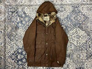 Vintage 80s Woolrich Flannel Lined Parka