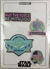 Disney Parks Patched Star Wars Girls Pink Blue Jedi Patch Set Adhesive - NEW